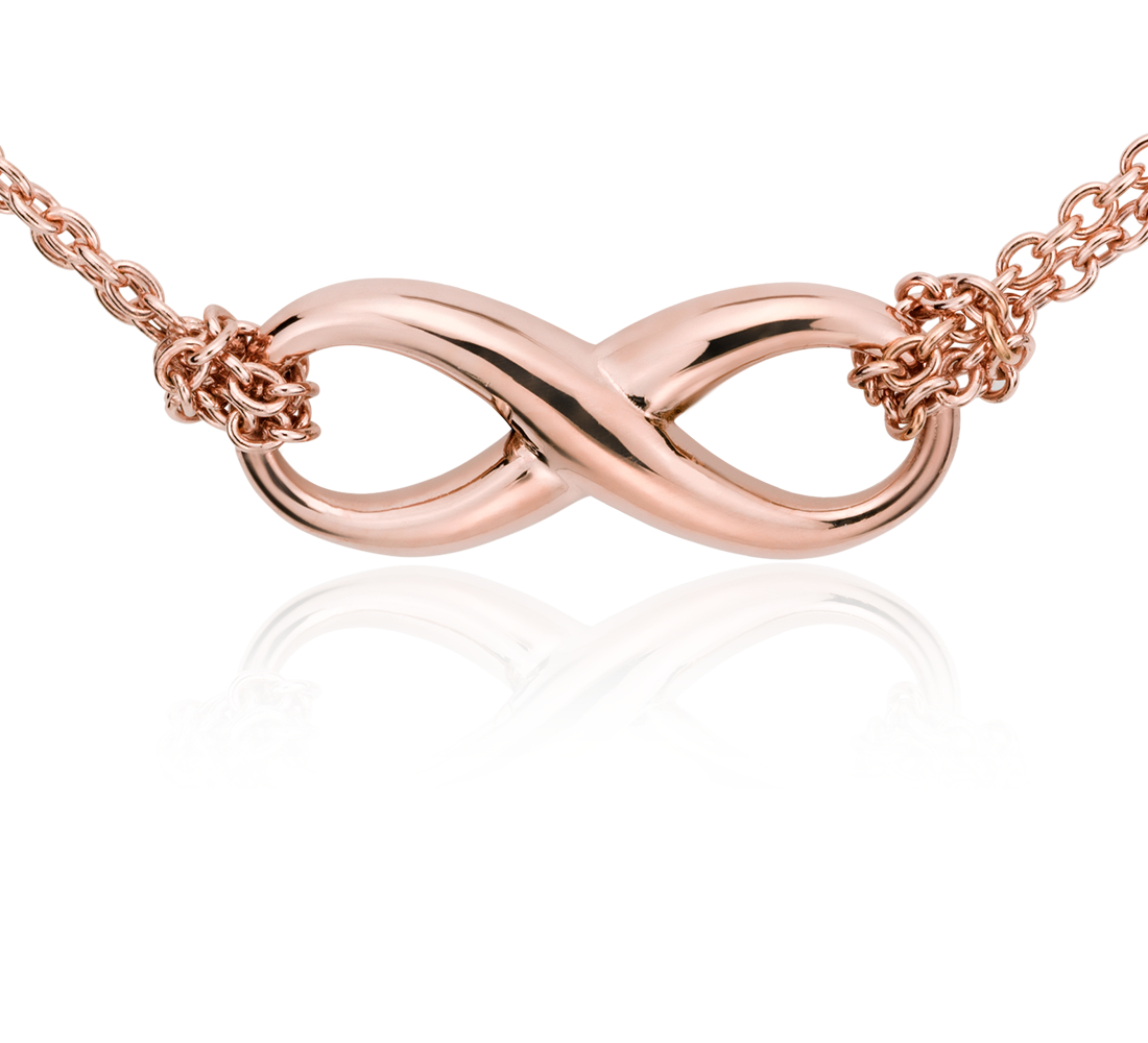 Collier infini en vermeil or rose