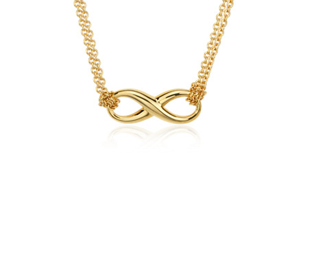 Infinity Necklace in Yellow Gold Vermeil