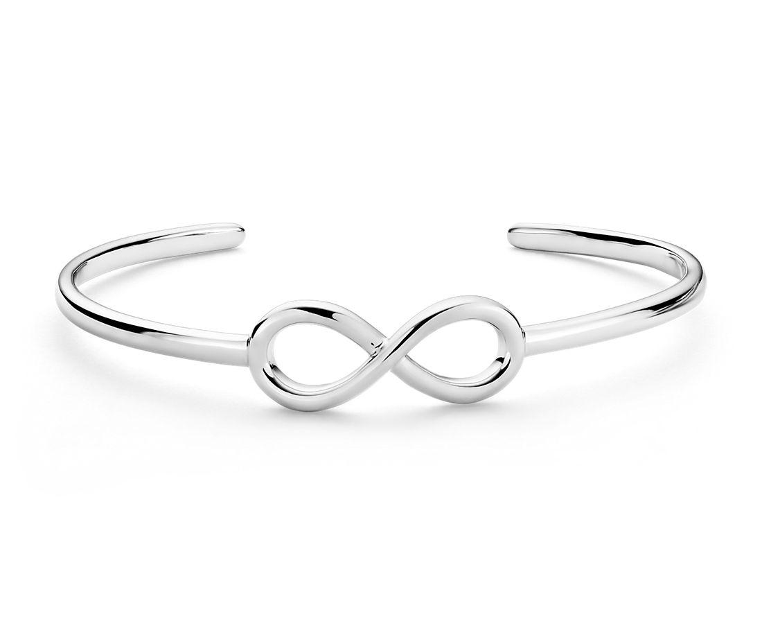 Infinity Cuff Bracelet in Sterling Silver