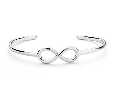 Bracelet manchette Infinity en argent sterling