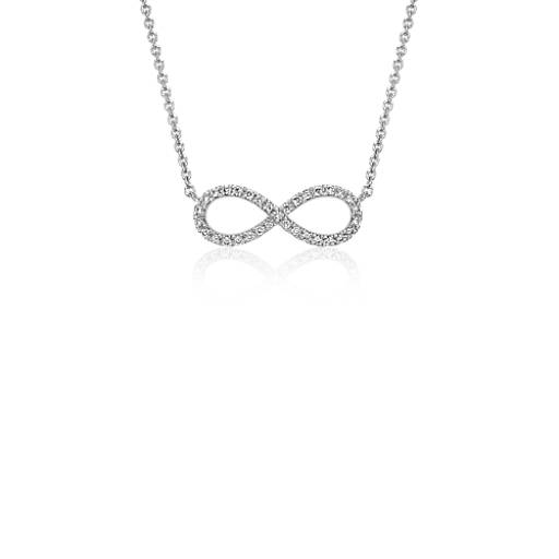 Blue Nile Infinity Trio Long Box Chain Pendant in Sterling Silver and 14k Yellow Gold (32) joySW5Mibd