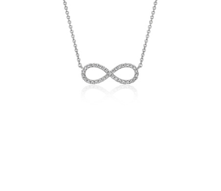 Mini infinity diamond necklace in 14k white gold blue nile mini infinity diamond necklace in 14k white gold aloadofball Image collections