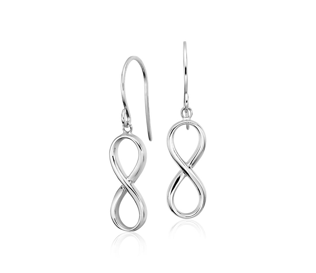 Infinity Drop Earrings in Sterling Silver