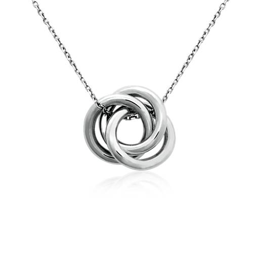 Infinity love knot pendant in sterling silver blue nile aloadofball Choice Image