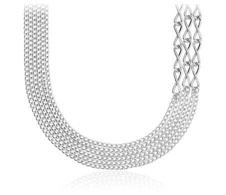Blue Nile Rounded Venetian Link Necklace in Sterling Silver MOiEa9IT8