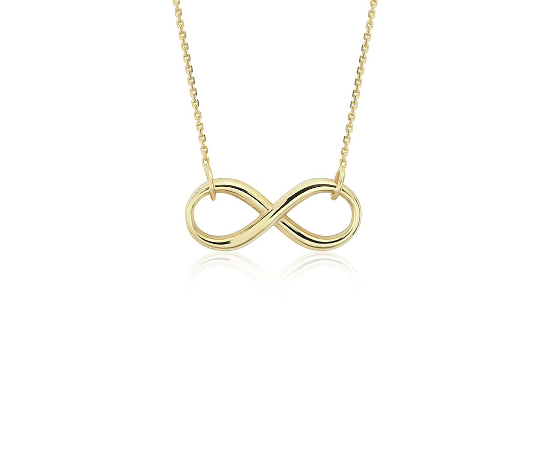 Infinity Necklace in 14k Yellow Gold