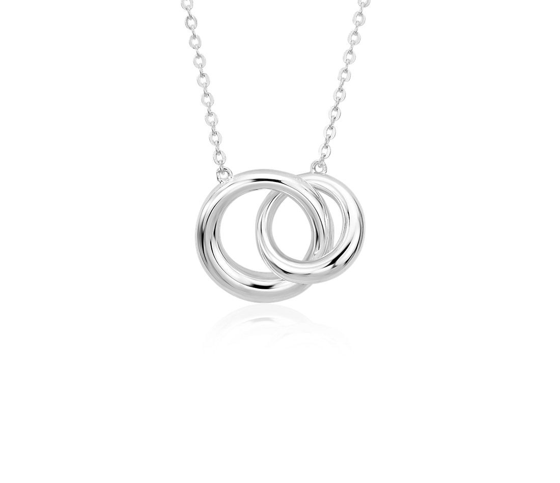 Infinity Ring Necklace in Sterling Silver
