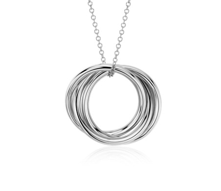 Infinity rings pendant in 14k white gold blue nile infinity rings pendant in 14k white gold aloadofball Choice Image