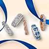 première vue alternative des Alliance torsadée Infinity en diamants sertis micro-pavé en or rose 14carats (1/5carat, poids total)