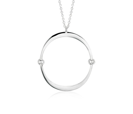 Inner circle pendant in sterling silver 28 blue nile inner circle pendant in sterling silver 28 aloadofball Images