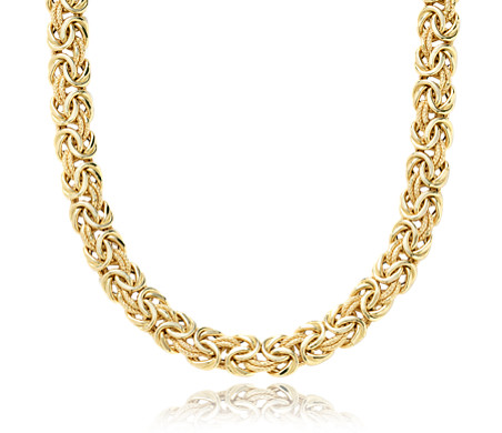 loops online gold necklace gram jewellery italian en yellow triple
