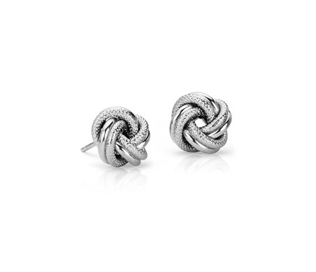 Interlaced Love Knot Earrings in Italian Sterling Silver