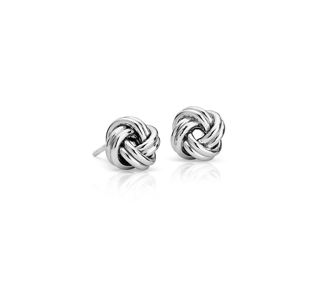 Love Knot Earrings in Italian Sterling Silver