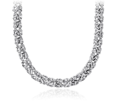 Byzantine Necklace in Italian Sterling Silver