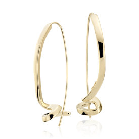 Italian Twist Drop Earrings in 14k Yellow Gold