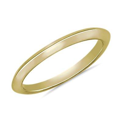 14k 金刀锋式结婚戒指