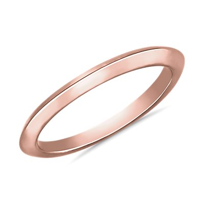 Knife Edge Wedding Ring in 18k Rose Gold