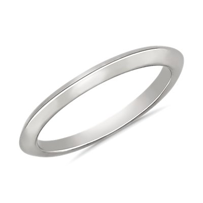 Knife Edge Wedding Ring in 18k White Gold