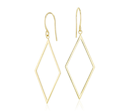 textured dangles triangle gold tribal fashion dangle earrings