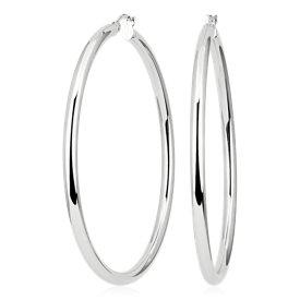 925 純銀 特色拋光圈形耳環( 2 3/8 英吋)