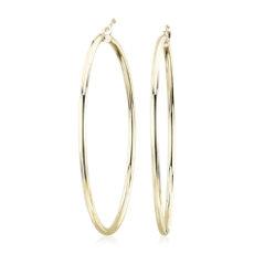 新款 14k 黃金大型圈形耳環 (5.1公分)