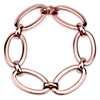 Large Oval Link Bracelet in 18k Italian Rose Gold