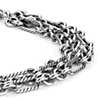 Oxidized Rope Link Bracelet in Sterling Silver