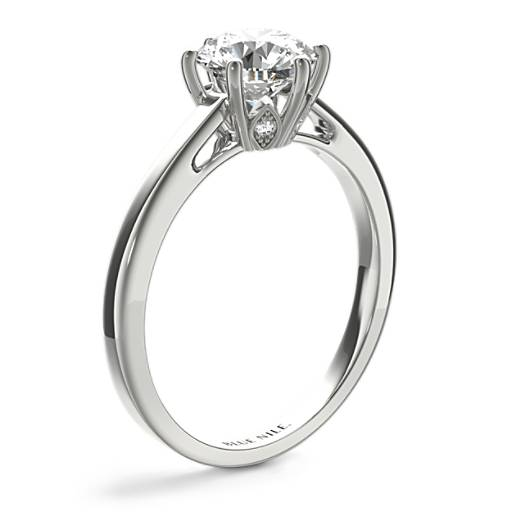 Leaf Solitaire Engagement Ring
