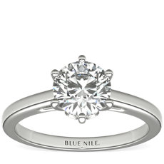 Leaf Solitaire Engagement Ring in Platinum (0.02 ct. tw.)