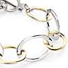 Two-Tone Linked Bracelet in Sterling Silver and Gold Vermeil