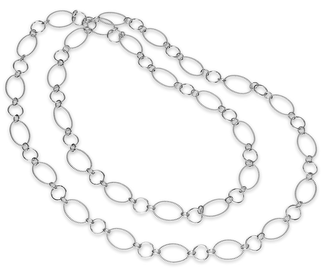 7bb1b902a1ee4 Circlet Link Necklace in Sterling Silver - 42