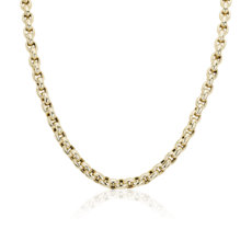 NEW Link Necklace with Toggle Clasp in 14k Italian Yellow Gold