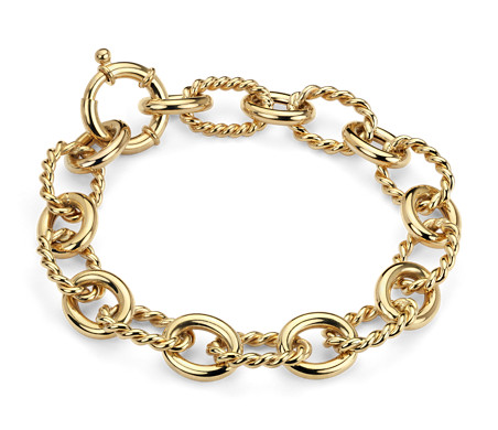 Linked Bracelet in 14k Yellow Gold