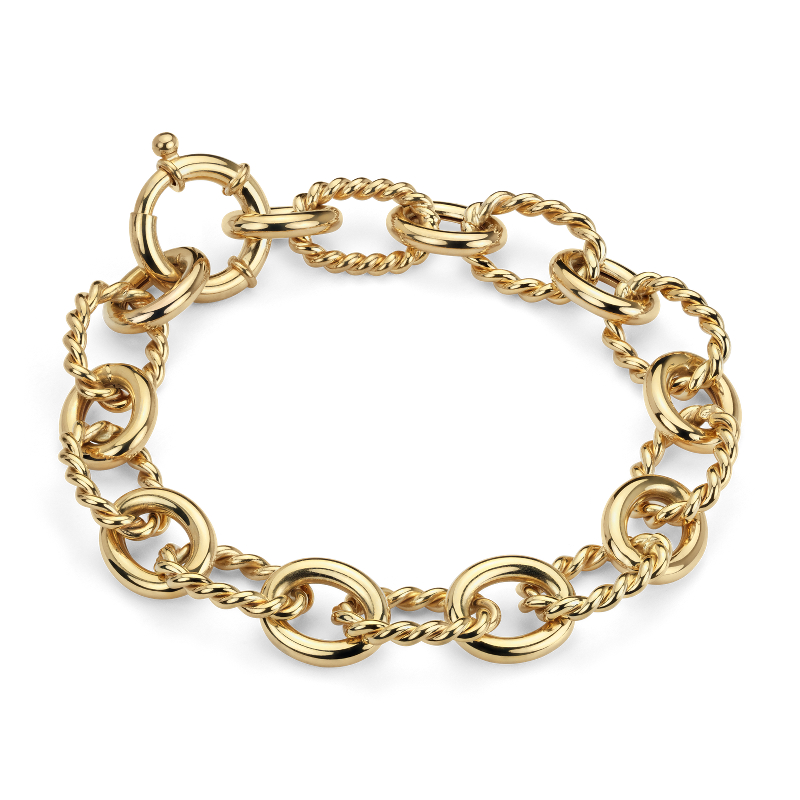 Linked Bracelet in 14k Italian Yellow Gold