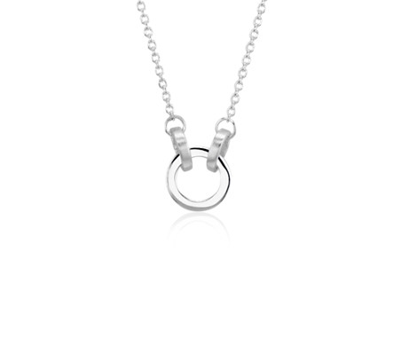 Linked Circle Pendant in Sterling Silver