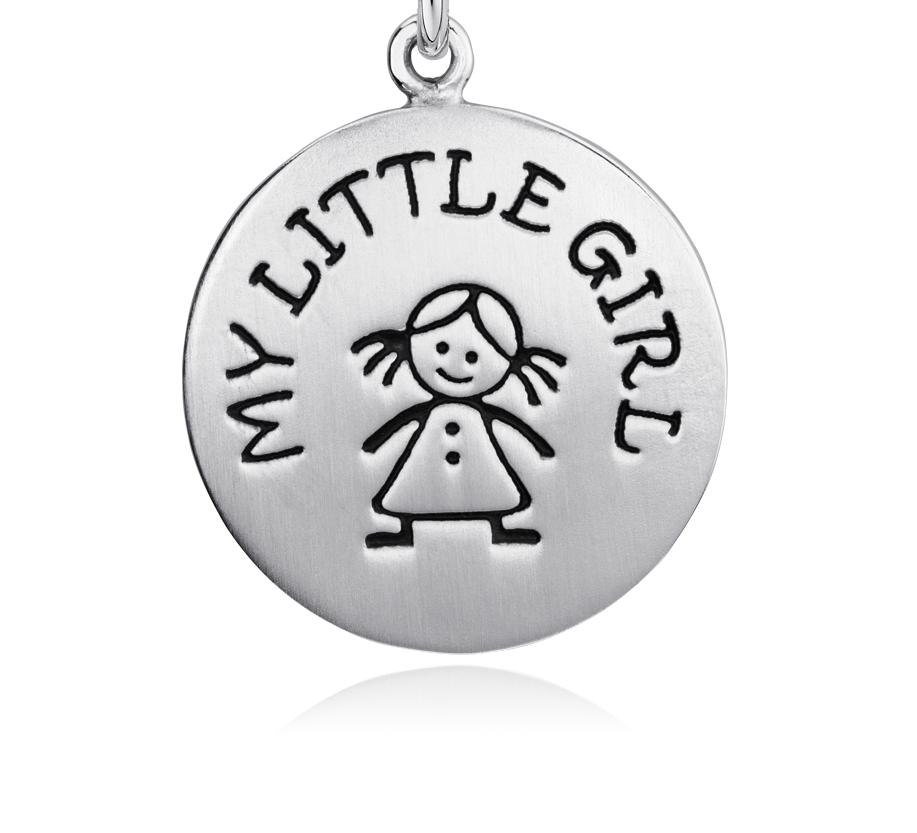 925 純銀我的小女孩小飾物