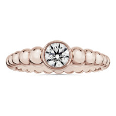NEW Lola Fenhirst 'The Union' Bezel-Set Diamond Engagement Ring in 18k Rose Gold