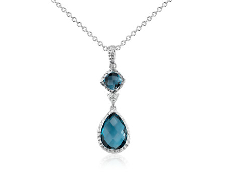 Blue Nile London Blue Topaz Rope Pendant in Sterling Silver (7mm) UOrWb3ox