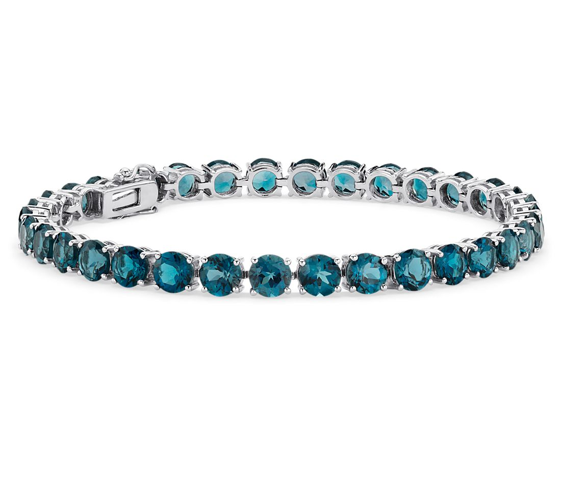 London Blue Topaz Bracelet In Sterling Silver 5mm