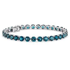 Bracelet en topaze bleu de Londres en argent sterling (5mm)