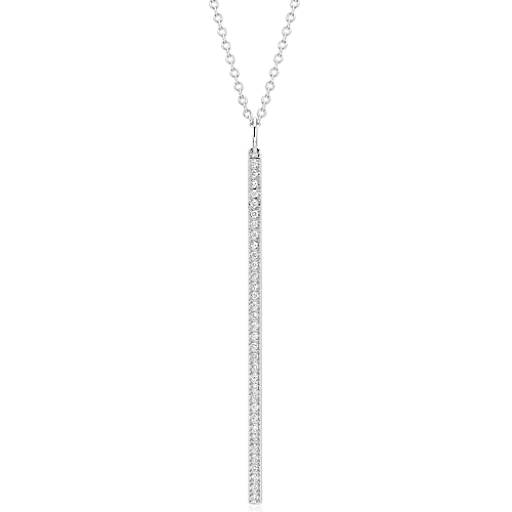 Blue Nile Long Diamond Bar Pendant in 14k Yellow Gold - 30 (1/4 ct. tw.) 4x9bTSz09