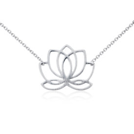 Lotus Necklace in Sterling Silver