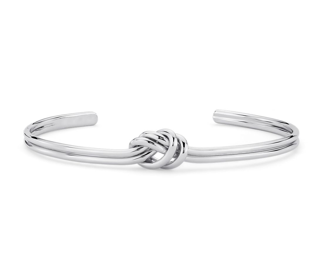 Love Knot Cuff Bracelet In Sterling Silver Blue Nile