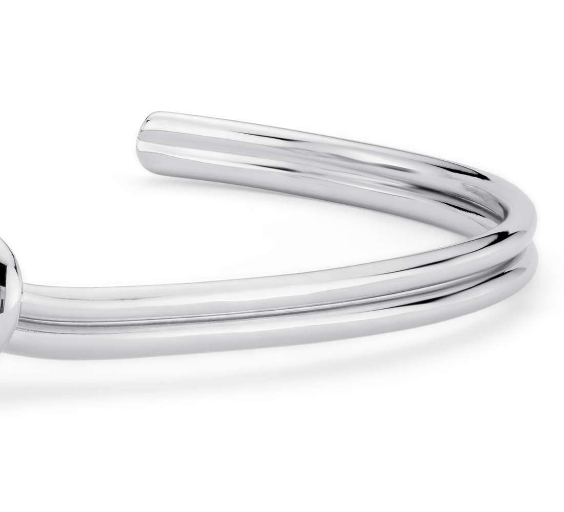 Love Knot Cuff Bracelet in Sterling Silver