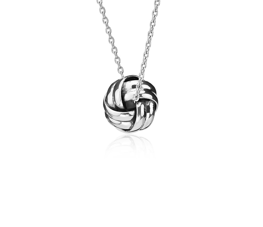 Love Knot Pendant Necklace in Sterling Silver