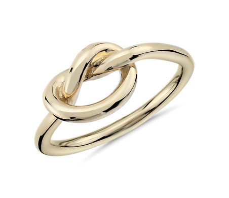 Love Knot Ring in 14k Yellow Gold