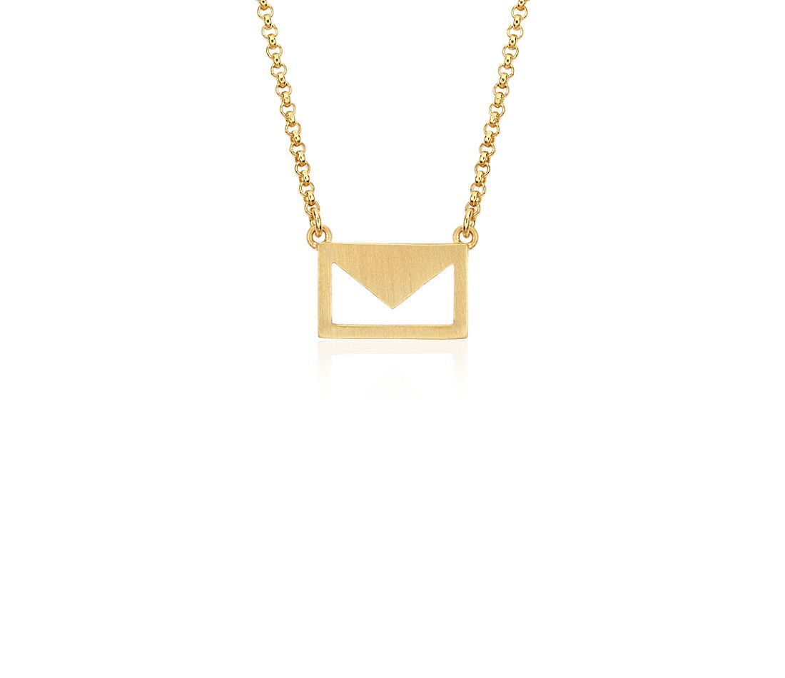 Love Letter Necklace in Yellow Gold Vermeil