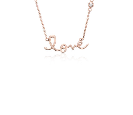 Love necklace in 14k rose gold blue nile love necklace in 14k rose gold aloadofball Choice Image