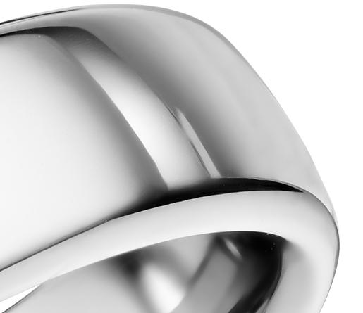 Alianza de ajuste cómodo con gallón rebajado en Cobalto (6,5mm)