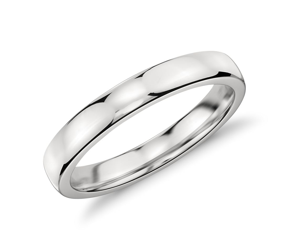 low dome comfort fit wedding ring in platinum (3mm) | blue nile